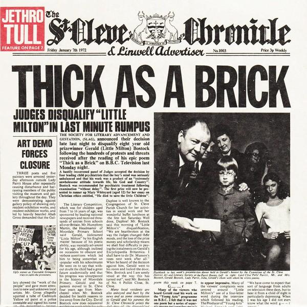 Jethro Tull Thick As A Brick Lp Vinil 180 Gramas Steven
