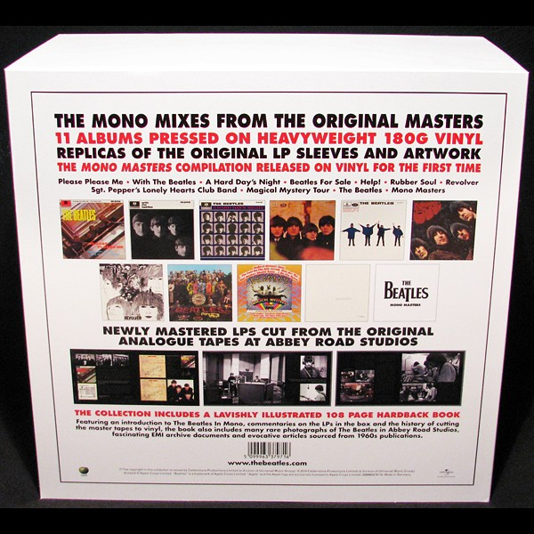 The Beatles In Mono Deluxe Box Set 14lp 180g Vinyl All