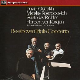 Beethoven Triple Concerto LP 180 Gram Vinyl Karajan Oistrakh Rostropovich Richter Hi-Q Supercuts EU