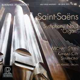 Saint-Saëns Symphony No. 3 Organ LP Vinil 180gr 45rpm Reference Recordings Mastercuts QRP USA