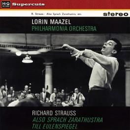 Strauss Also Sprach Zarathustra Till Eulenspiegel LP Vinil 180 Gramas Lorin Maazel Hi-Q Supercuts EU