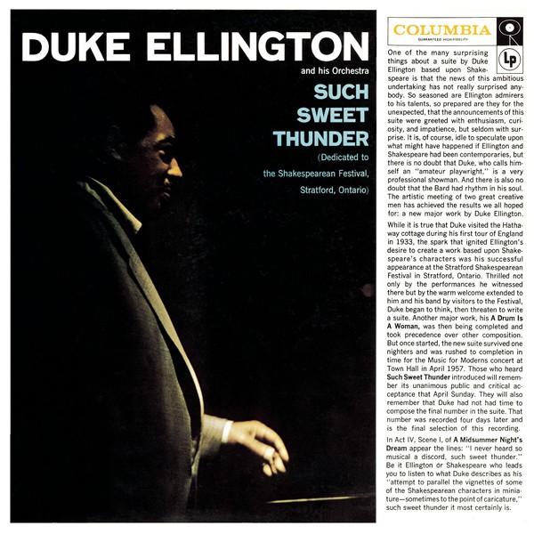Duke Ellington Such Sweet Thunder Lp 180 Gram Vinyl