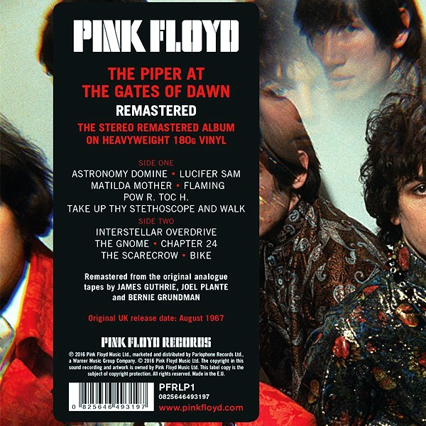 Pink Floyd The Piper At The Gates Of Dawn Lp 180g Vinyl