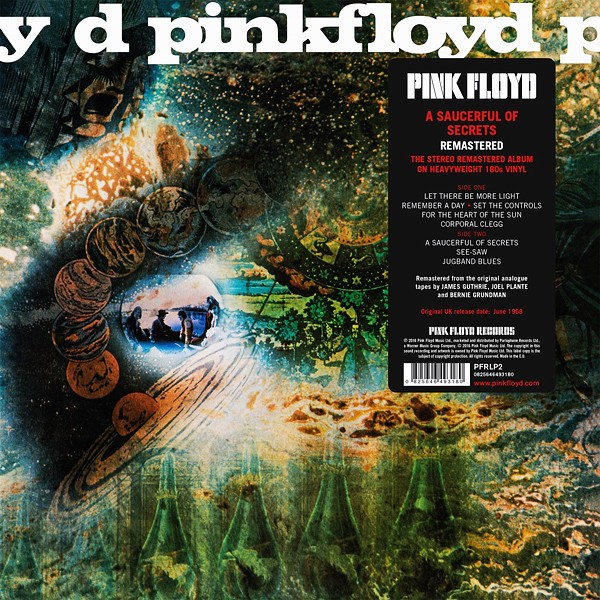 Pink Floyd A Saucerful Of Secrets Lp 180 Gram Vinyl