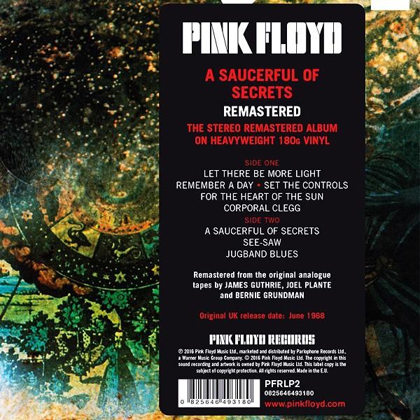 Pink Floyd A Saucerful Of Secrets Lp 180 Gram Vinyl