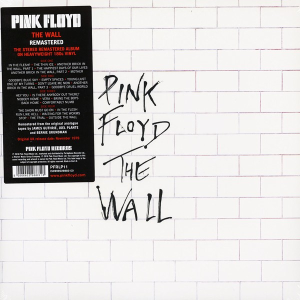 Pink Floyd The Wall 2lp 180 Gram Vinyl Gatefold Remastered