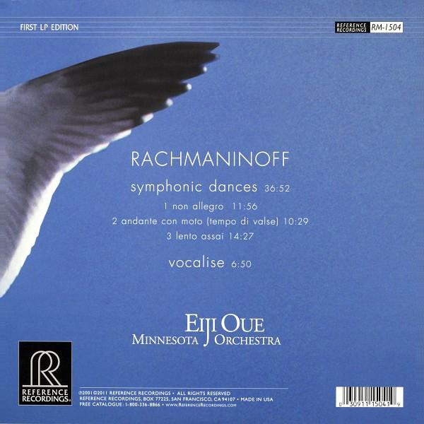 Rachmaninoff Symphonic Dances Vocalise Lp 200g Vinyl Oue