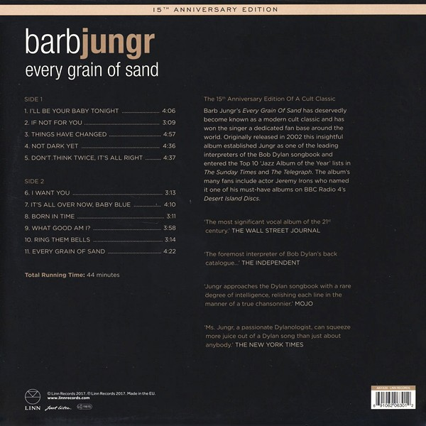 Barb Jungr Every Grain Of Sand Sings Bob Dylan Lp 180 Gram