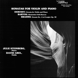 David Abel Julie Steinberg Sonatas For Violin And Piano LP Vinil 200 Gramas Wilson Audiophile 2016 QRP USA