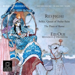 Respighi Belkis Queen Of Sheba Pines Of Rome LP Vinil 200g Oue Reference Recordings Mastercuts QRP USA