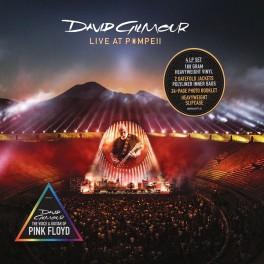 David Gilmour Live At Pompeii 4LP Vinil 180 Gramas Caixa Slipcase Livro 24 Páginas Sony Music 2017 EU