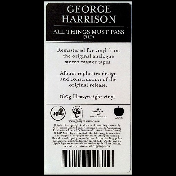 George Harrison All Things Must Pass 3LP 180 Gram Vinyl Limited