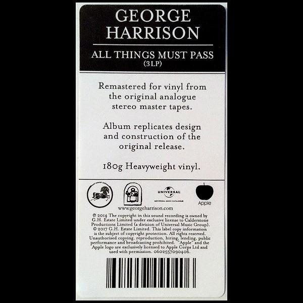 George Harrison All Things Must Pass 3lp 180 Gram Vinyl