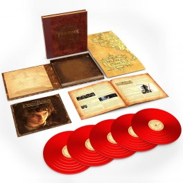 The Lord Of The Rings The Fellowship Of The Ring Complete Recordings 5LP Vinil 180g Vermelho 2018