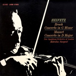 Bruch Mozart Concerto LP 200g Vinyl Heifetz Sargent Living Stereo Analogue Productions QRP 2018 USA