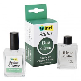Winyl Stylus Duo Clean Lab-21 Formula Special Set Stylus Tip Brush Cleaner And Rinse Fluids