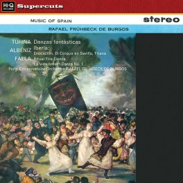 Music of Spain Burgos LP Vinil 180gr EMI Paris Conservatoire Orchestra Hi-Q Records Supercuts EU
