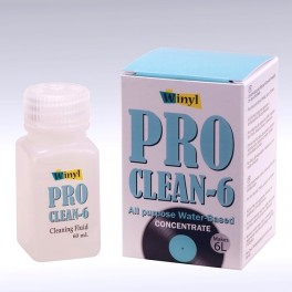 Winyl Pro-Clean-6 Vinyl Records Cleaning Fluid Concentrate 60ml makes 6 Litres