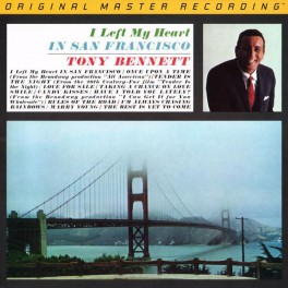 Tony Bennett ‎I Left My Heart In San Francisco LP 180g Vinyl Mobile Fidelity Sound Lab MFSL RTI USA