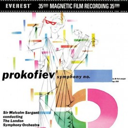 Prokofiev Symphony No 5 Sir Malcolm Sargent LSO 2LP 45rpm Vinil 200g Everest Classic Records QRP USA