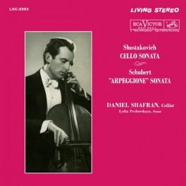 Shostakovich Schubert Cello Arpeggione Sonata LP Vinil 200g Living Stereo Analogue Productions USA
