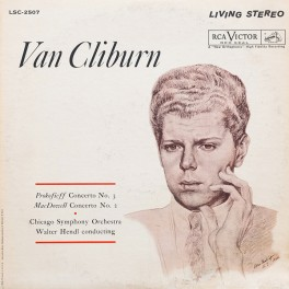 Van Cliburn Prokofiev Concerto No.3 Hendl LP 200g Vinyl RCA Living Stereo Analogue Productions USA