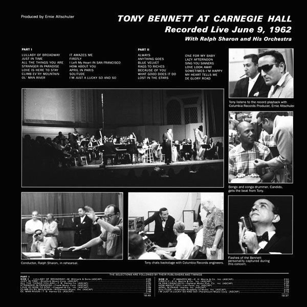 Tony Bennett At Carnegie Hall 2lp 200 Gram Vinyl Analogue