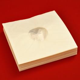 "100 Deluxe Antistatic Inner Sleeves for Vinyl LP Records Polylined Paper High Density Polyethylene PE 12"""