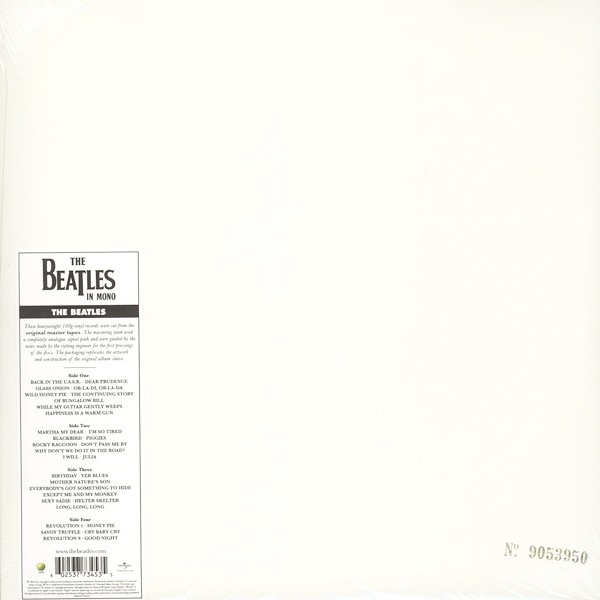 The Beatles White Album Mono 2lp 180 Gram Vinyl Numbered