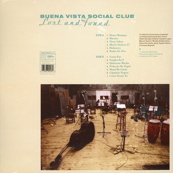 Buena Vista Social Club Lost And Found Lp 180 Gram Vinyl