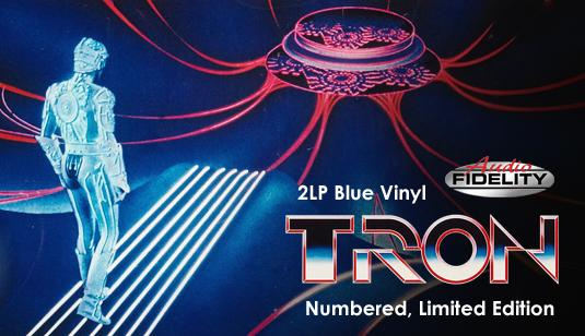 Tron Original Soundtrack Wendy Carlos 2lp 180g Blue Vinyl