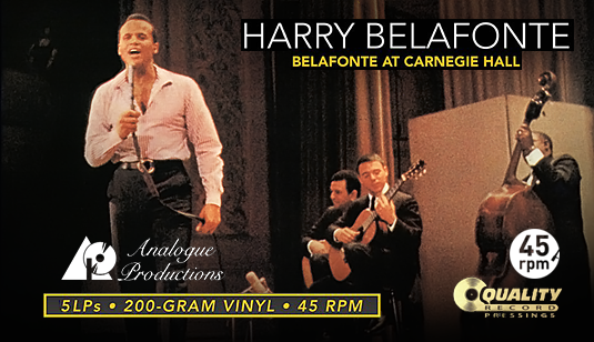 Harry Belafonte At Carnegie Hall 5LP 45rpm Vinil 200 Gramas Caixa Analogue Productions Sterling QRP USA