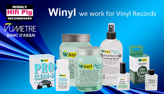 Winyl Gel Professional Cleaner for Vinyl Records 500ml Bottle