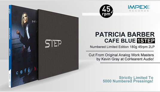 Patricia Barber Café Blue 2LP 45rpm 180g VR900-Supreme Vinyl 1STEP Box Set Impex Records RTI USA