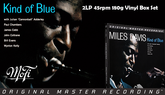Miles Davis Kind Of Blue 2LP 45rpm 180 Gram Vinyl Numbered Limited Edition Box Set 2015