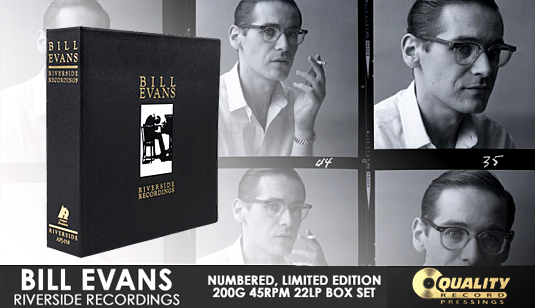 Bill Evans Riverside Recordings 22LP 45rpm 200 Gram Vinyl Box Set Analogue Productions QRP 2017 USA