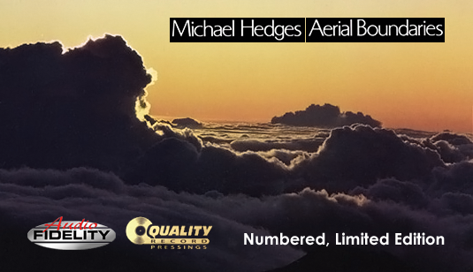 Michael Hedges Aerial Boundaries LP 180 Gram Vinyl Audio Fidelity Numbered Limited Edition QRP 2015 USA